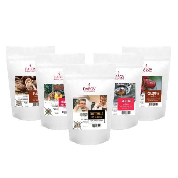 Пакет с 5 изключителни кафета - Изключителен вкус | 5 пакета х 200.8г. всеки