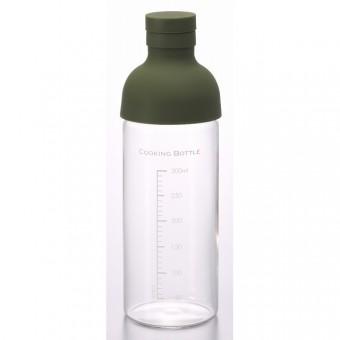 Харио - Стъклена бутилка 300 мл. - зелена
