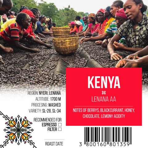 КАФЕ НА МЕСЕЦ АВГУСТ 2018 - Кения Ленана АА