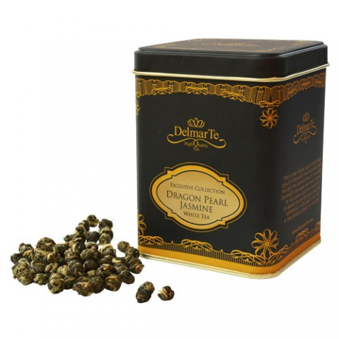 White tea Jasmine White dragon pearls - DelmarTe Exclusive