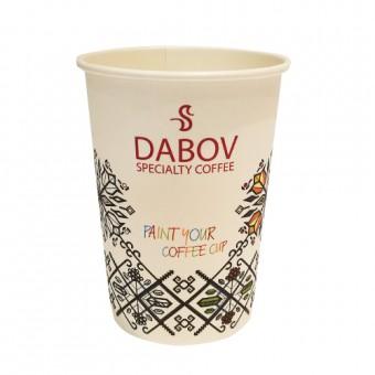 Картонена чаша за кафе  лате - 360 мл - 10 бр