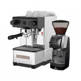 """Espresso equipment """"Espresso at Home - Basic"""" WITH ONE YEAR SUPPLY OF 1 KG COFFEE of the month"""